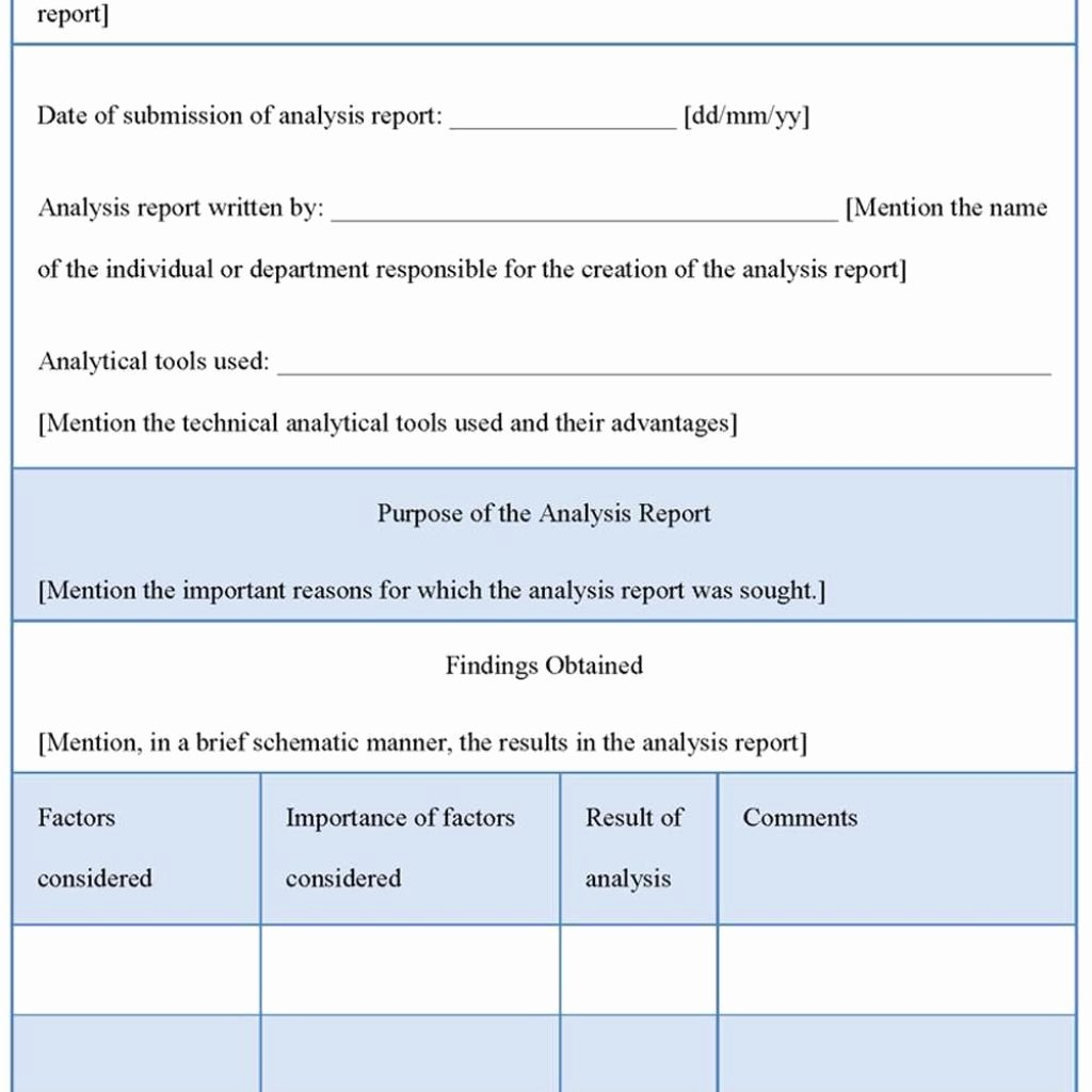 Failure Analysis Report Template Beautiful Failure Analysis Report Template My Best Templates