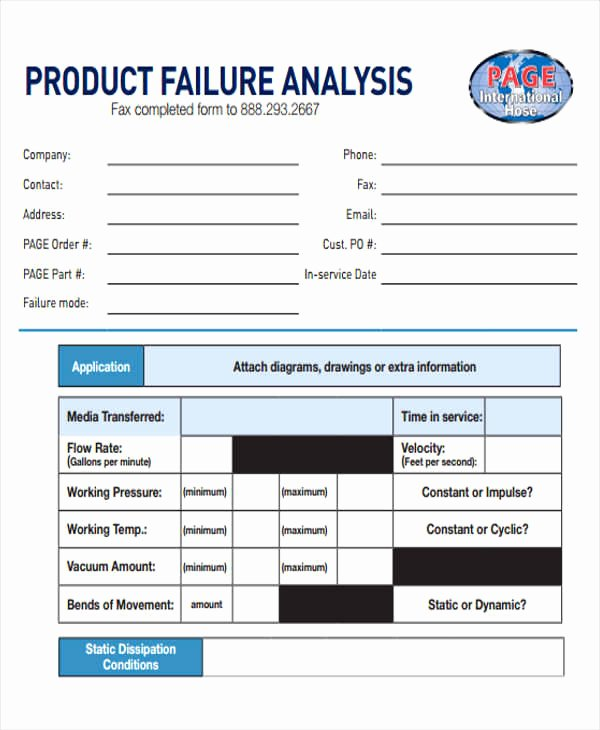 Failure Analysis Report Template Best Of Failure Analysis Report Template – Emilys Welt