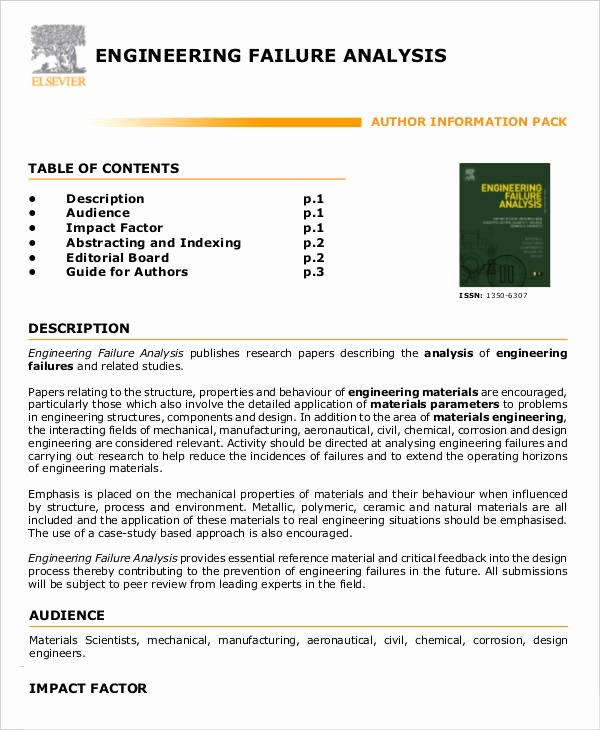Failure Analysis Report Template Elegant 8 Editable Failure Analysis Templates Pdf Word