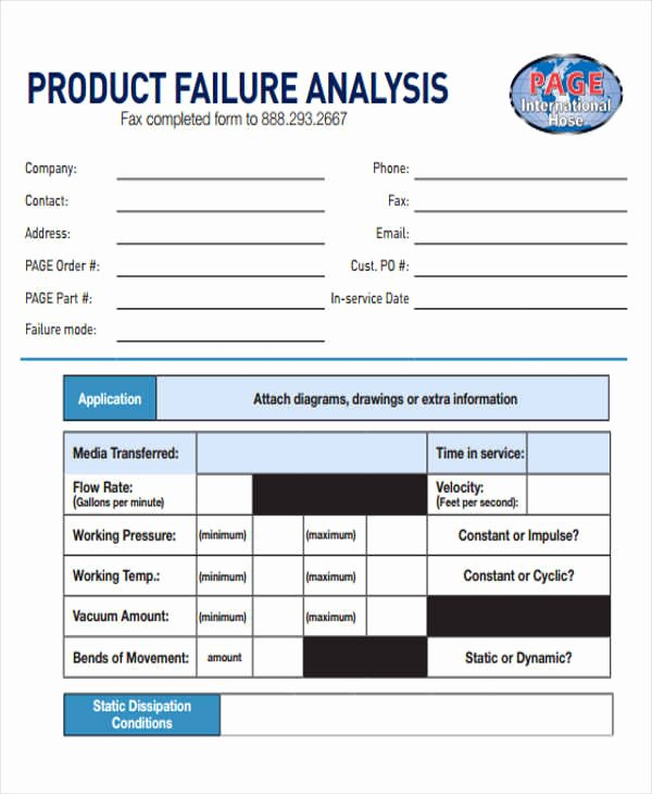 Failure Analysis Report Template Fresh 8 Sample Product Analysis Reports
