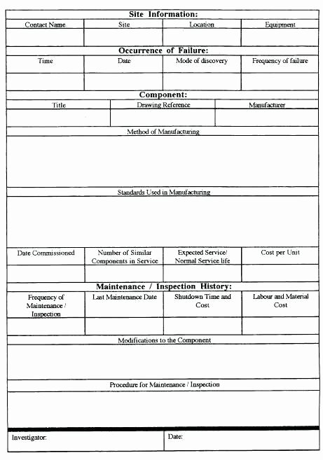 Failure Analysis Report Template Lovely Root Cause Failure Analysis Template Examples and Effect