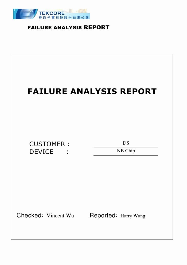 Failure Analysis Report Template New Microsoft Word S Ds Scratch Pad Discolor Failure