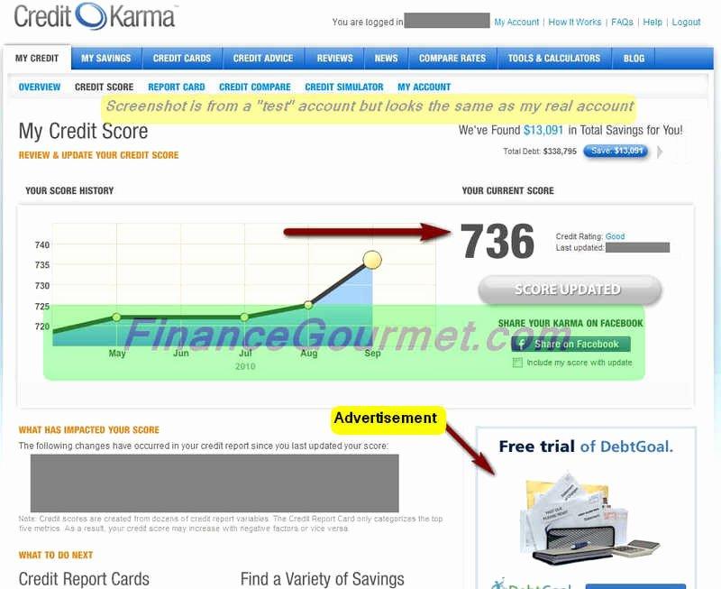 Fake Credit Score Template Elegant Credit Karma Images Usseek