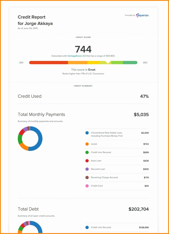 Fake Credit Score Template New Fake Credit Report Template
