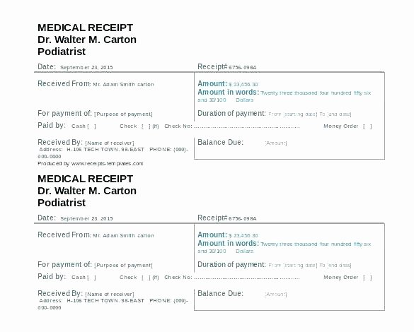 Fake Hospital Bill Template Best Of Medical Bill Template Doctor Fice – Chaseevents