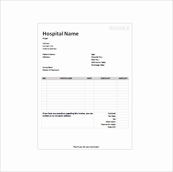 Fake Hospital Bill Template Inspirational 16 Doctors Receipt Templates