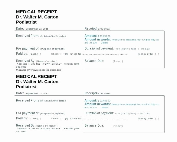 Fake Hospital Bill Template New Fake Hospital Bill Template Free Itemized Receipt 1