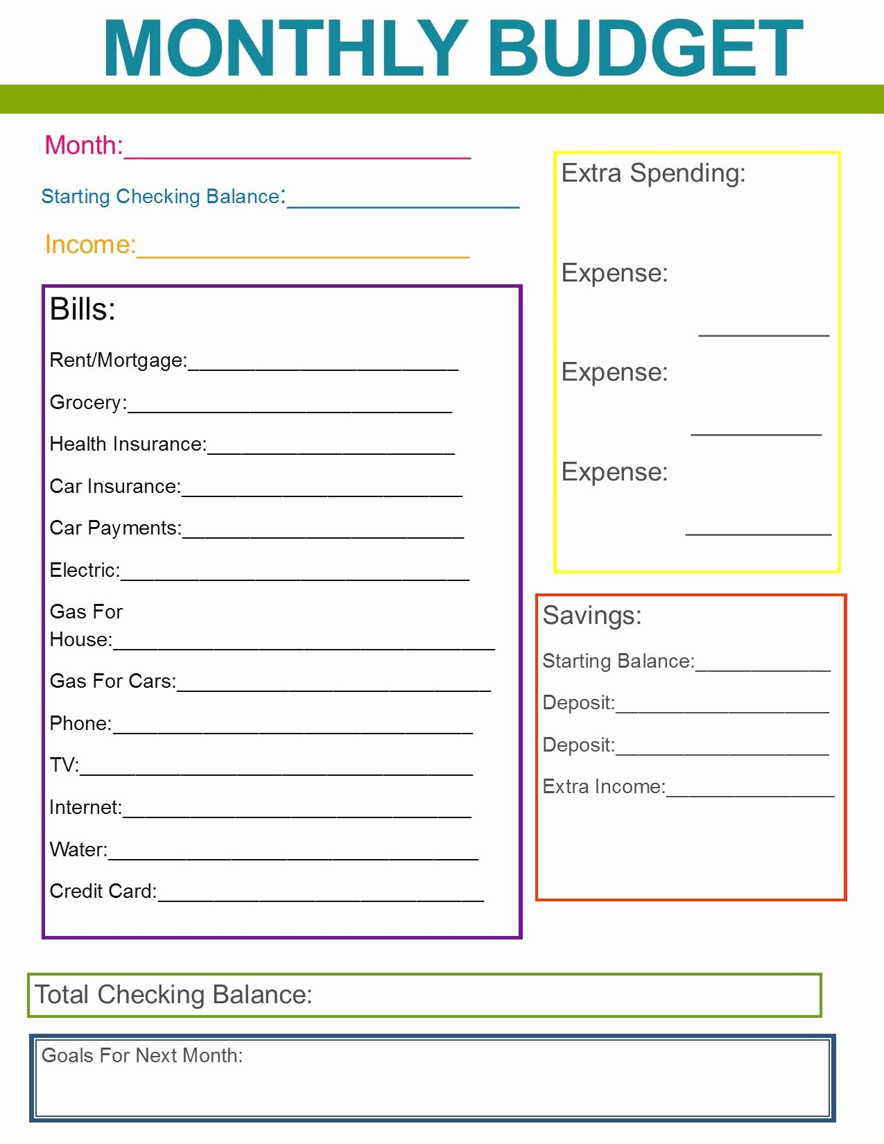 Family Budget Planner Template Best Of Monthly Family Bud Great Habit to Start for the New
