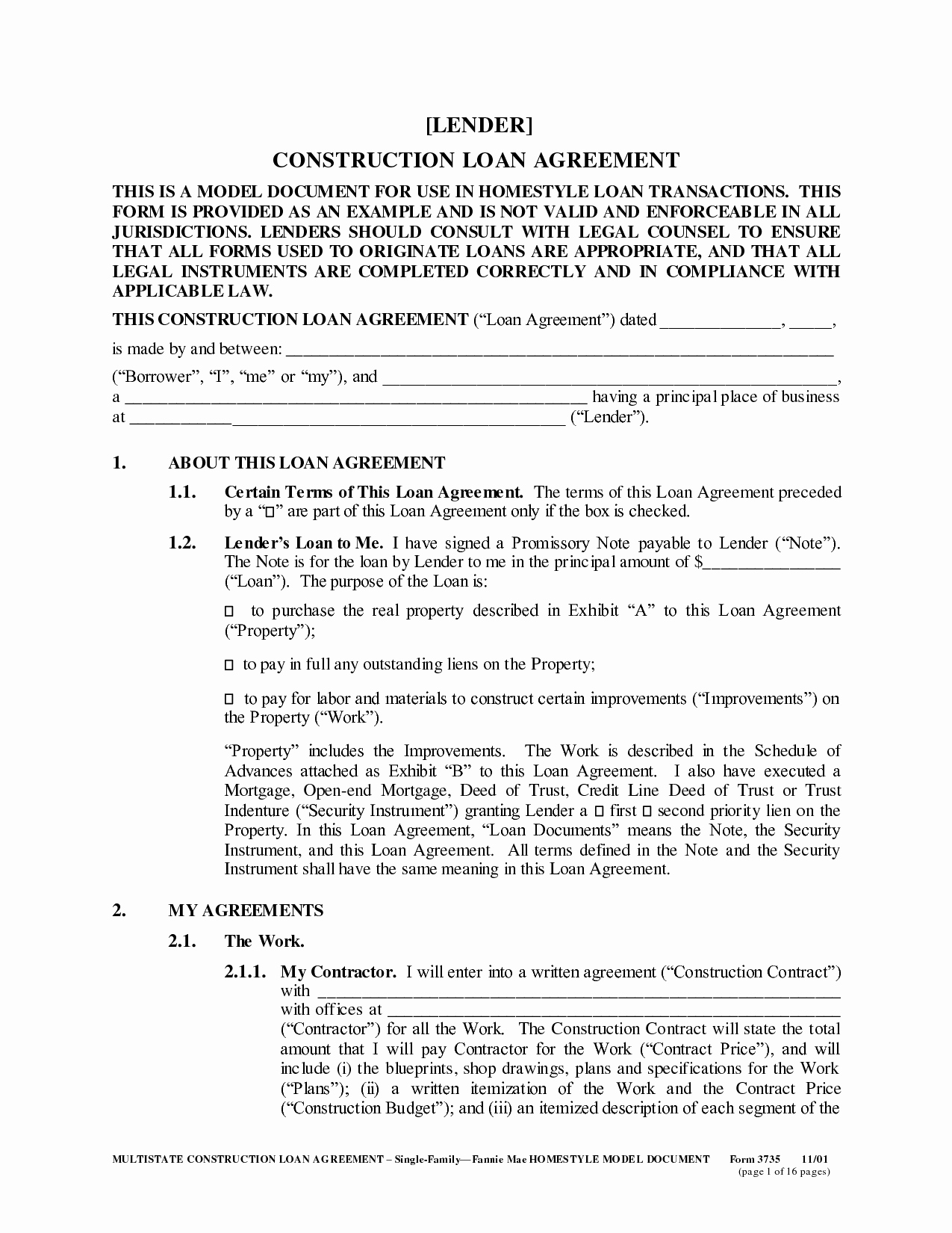Family Loan Agreement Template Free Best Of 12 Best Of Sample Loan Agreement Between Friends