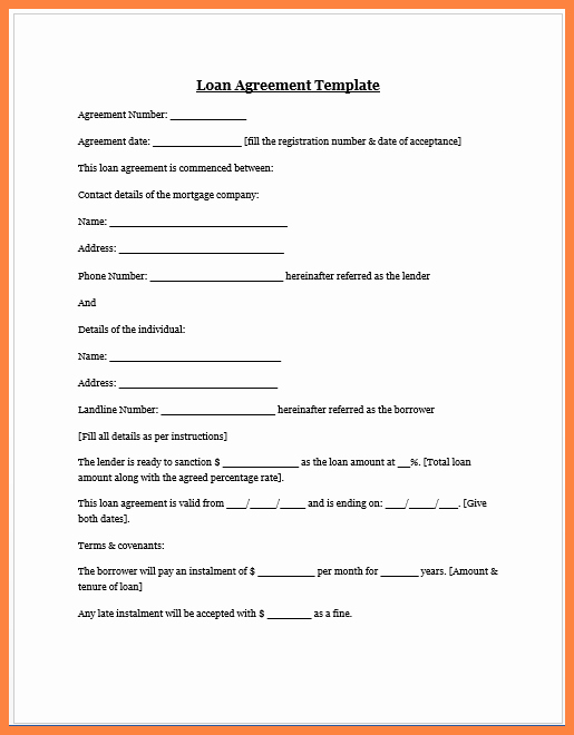 Family Loan Agreement Template Free Best Of 8 Loan Agreement Template Between Family Members