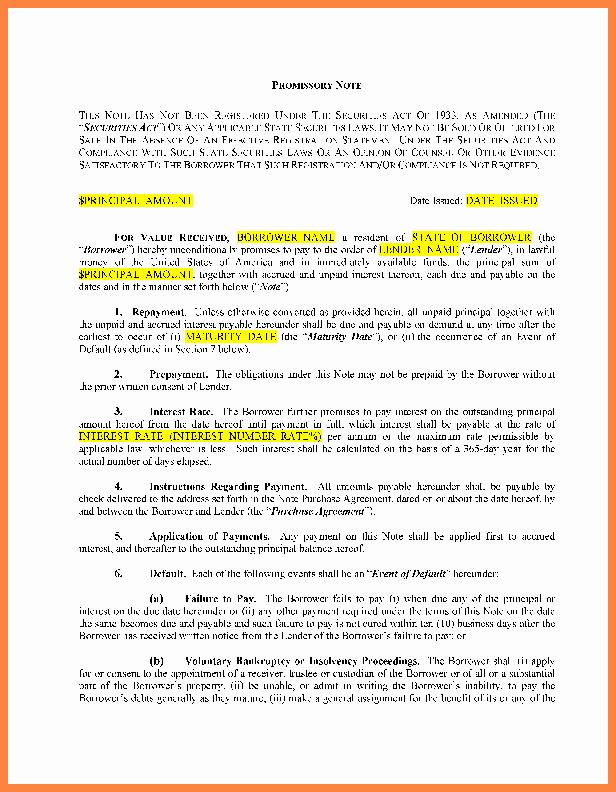 Family Loan Agreement Template Free Elegant 8 Loan Agreement Template Between Family Members