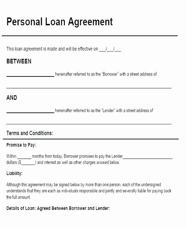 Family Loan Agreement Template Free Elegant Family Loan Template Family Loan Agreement Template