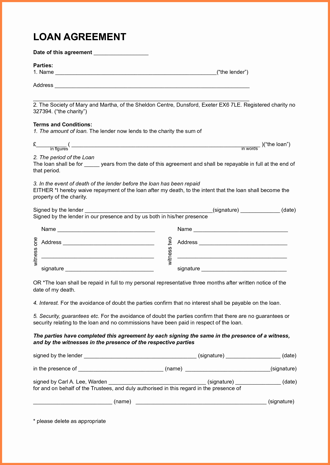 Family Loan Agreement Template Free Inspirational 7 Template Loan Agreement Between Family Members