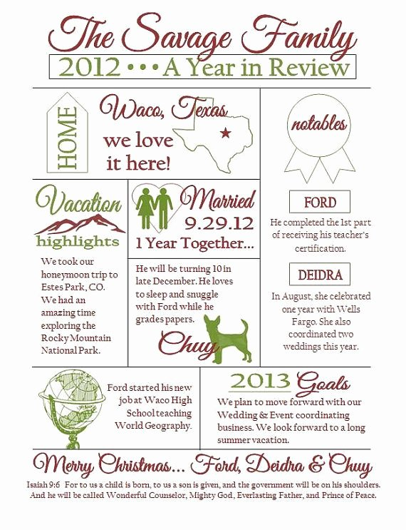 Family Reunion Newsletter Template Awesome Custom Christmas Family Newsletter