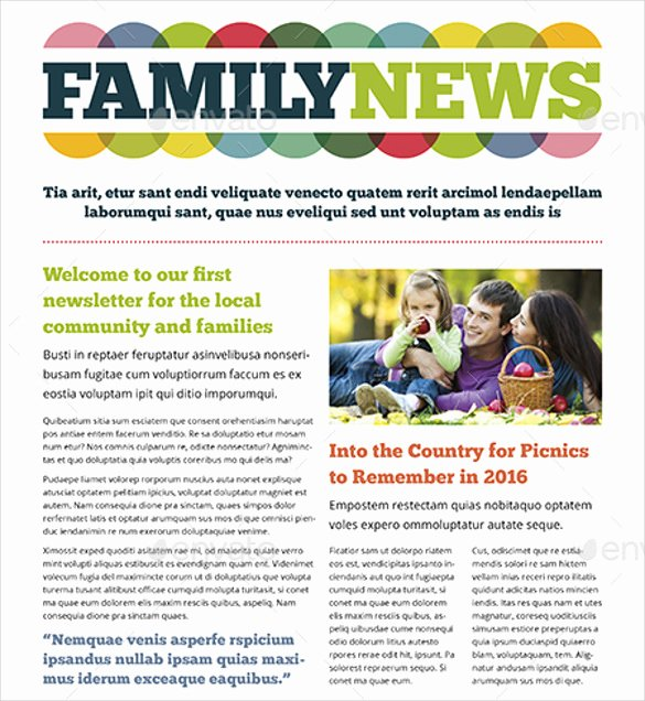 Family Reunion Newsletter Template Beautiful Free Family Newsletter Template 13 Ingenious Ways You Can