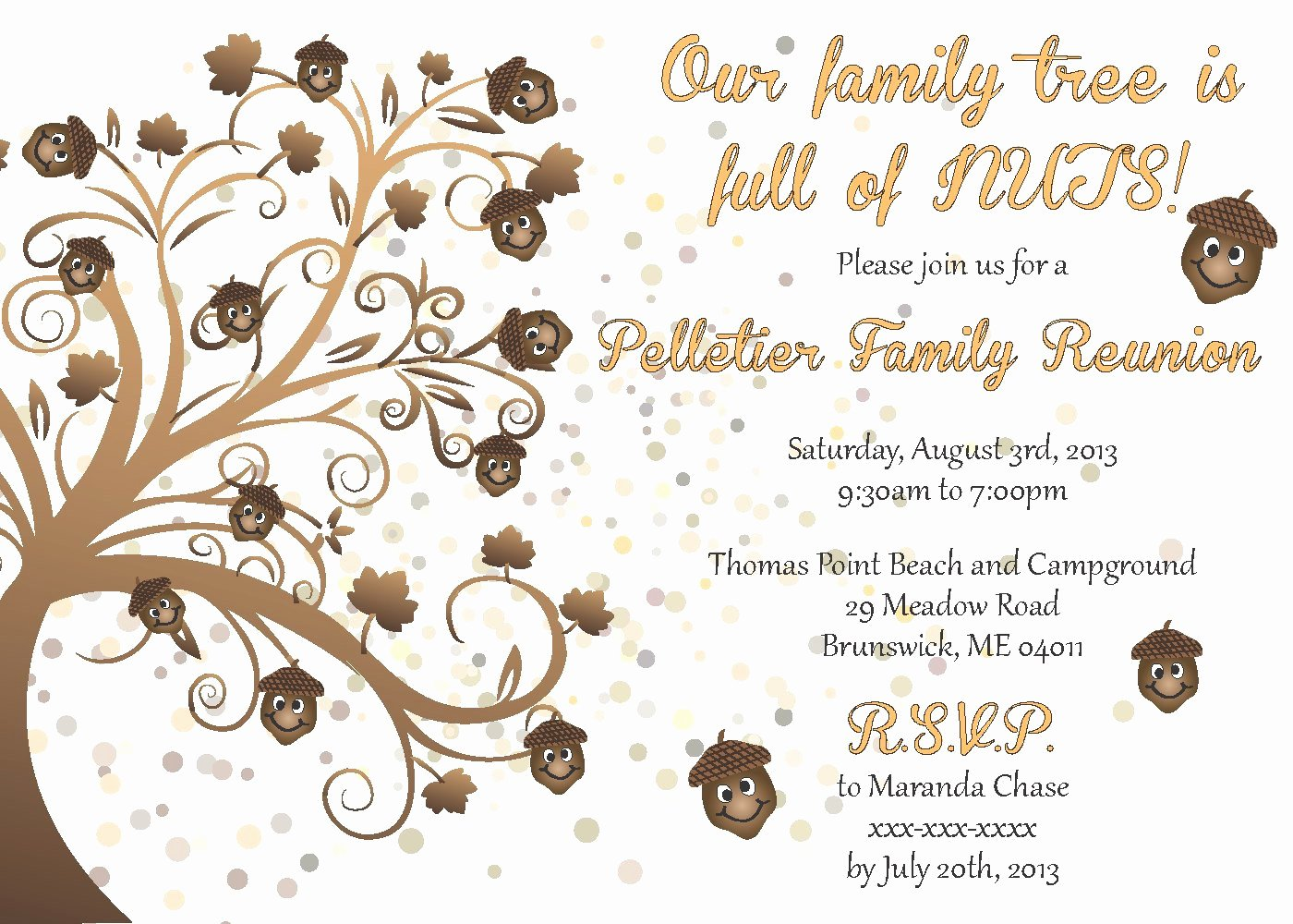 Family Reunion Newsletter Template Elegant Family Reunion Invitation by Littlebopress On Etsy