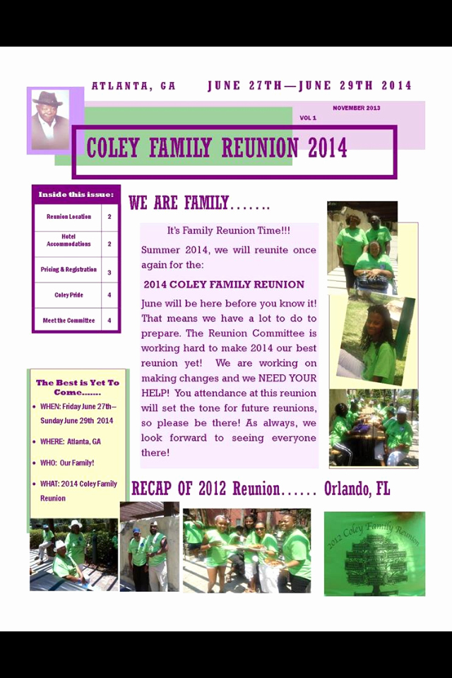 Family Reunion Newsletter Template Fresh Family Reunion Newsletter 2014 Reunion Newsletter Ideas