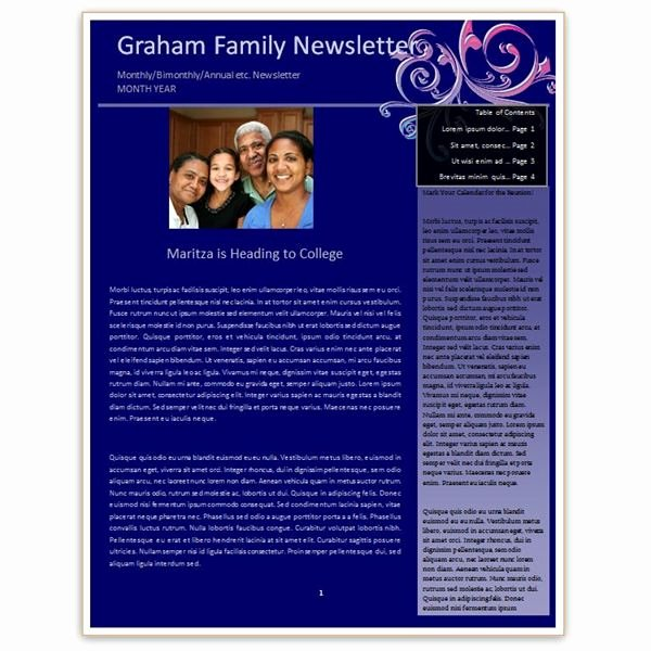 Family Reunion Newsletter Template Inspirational Family Reunion Newsletter Examples Making A Family