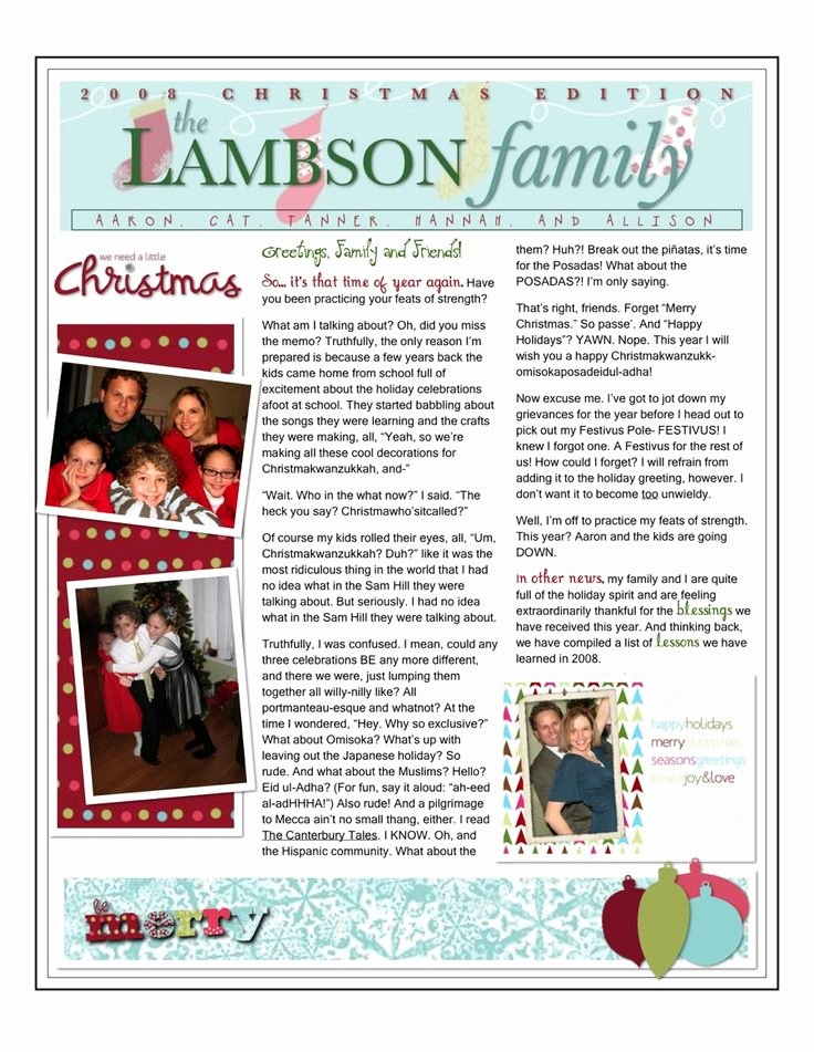 Family Reunion Newsletter Template New 8 Best Family Newsletter Ideas Images On Pinterest