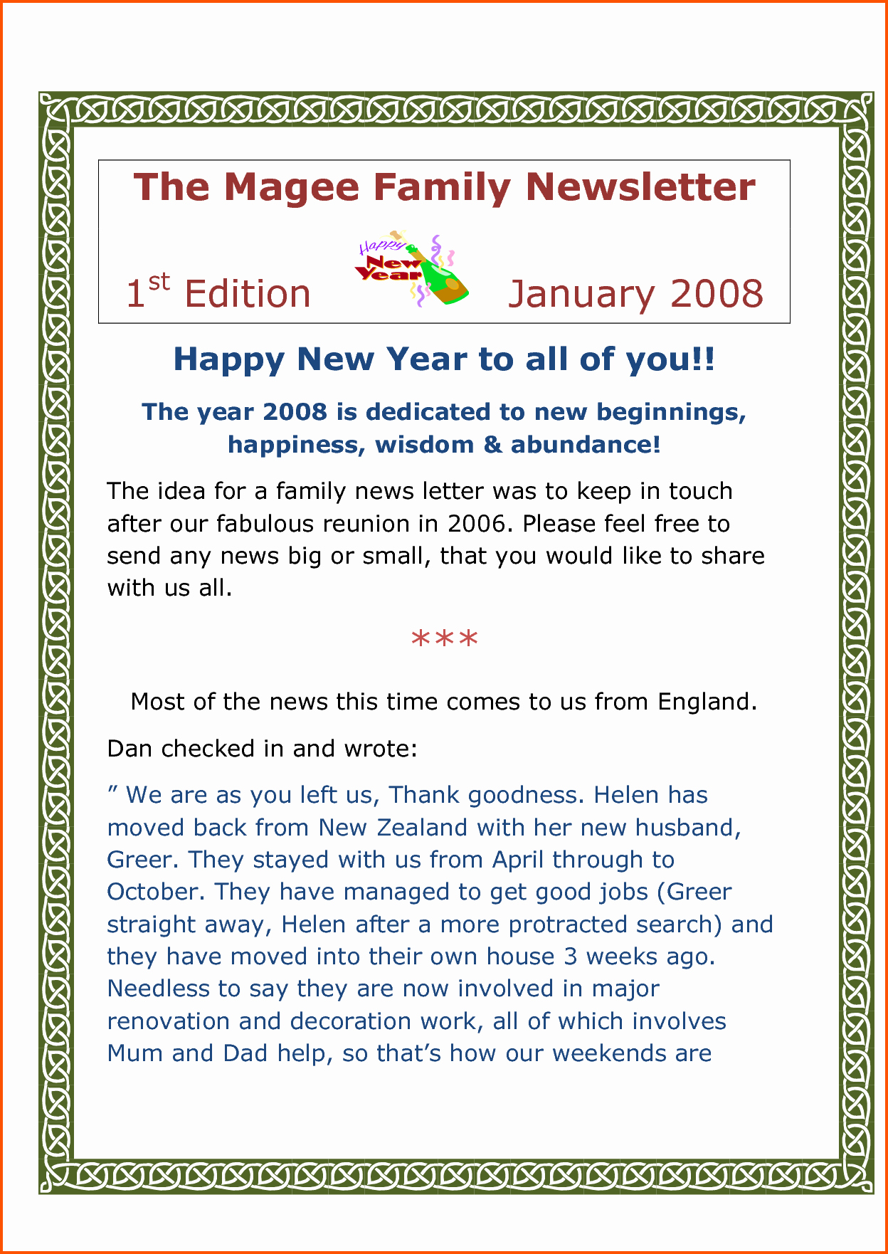Family Reunion Newsletter Template New Free Family Reunion Invitation Templates