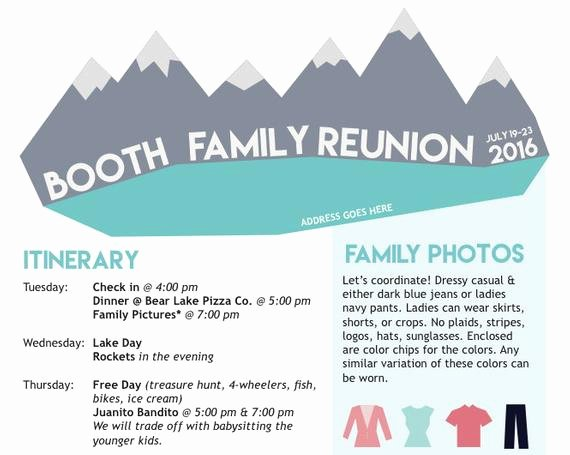 Family Reunion Newsletter Template Unique Items Similar to Family Reunion Newsletter Mountains