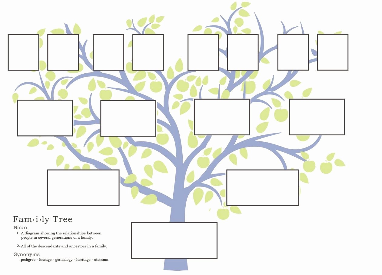 Family Tree Website Template Awesome Free Family Tree Template to Print Google Search