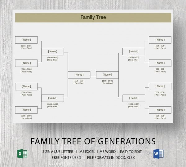 Family Tree Website Template Best Of Simple Family Tree Template Word Beautiful Template
