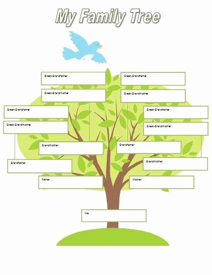 Family Tree Website Template Lovely Kids Family Tree