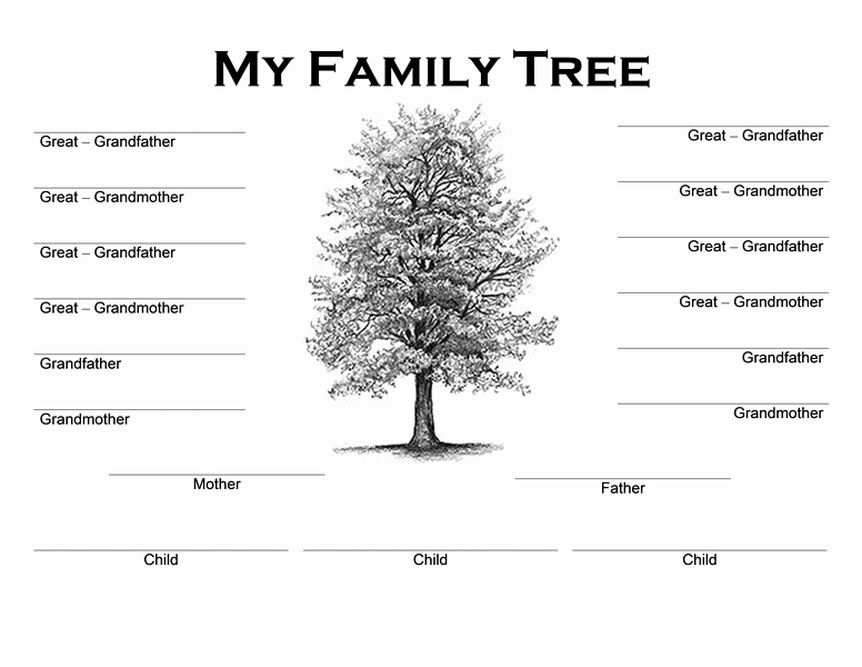 Family Tree Website Template New Family Tree Templates Word Word Excel Samples