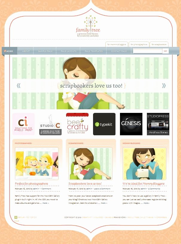Family Tree Website Template Unique the Cutest Website