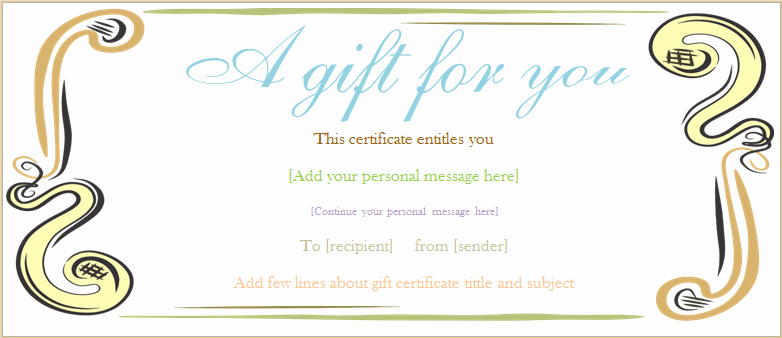 Fancy Gift Certificate Template Awesome Abstract Border Gift Certificate Template