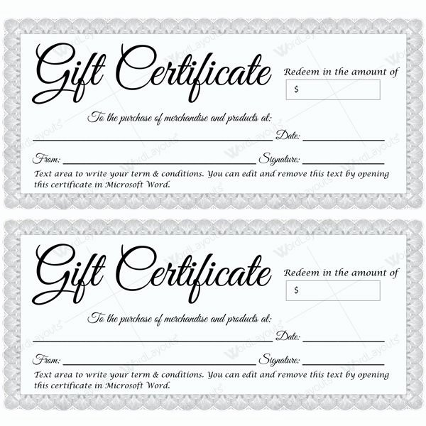 Fancy Gift Certificate Template Beautiful Fancy Gift Certificate Template New Gift Certificate