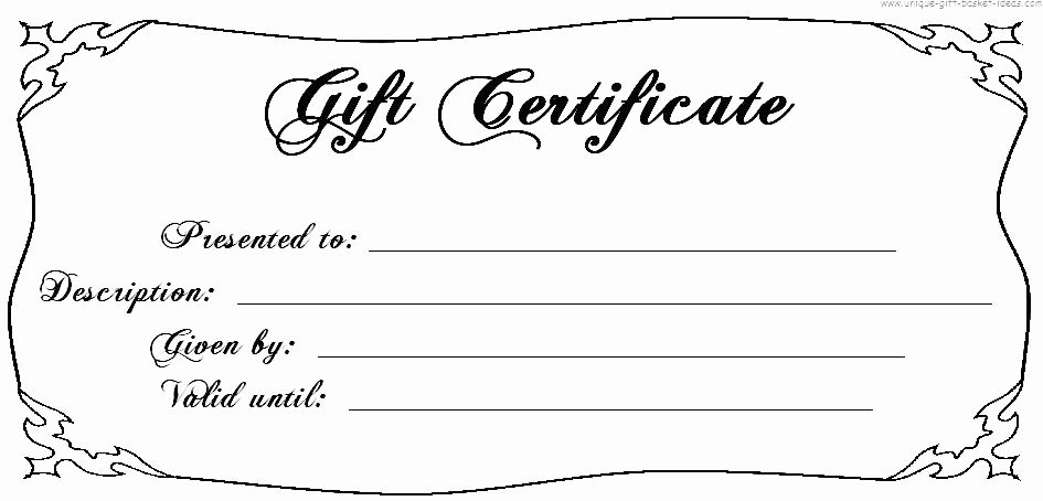 Fancy Gift Certificate Template Elegant Birthday Gift Certificate Template Fancy – Yakult
