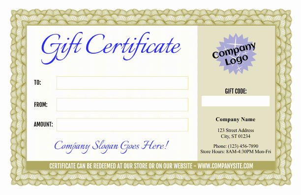 Fancy Gift Certificate Template Inspirational formal Gift Certificate Templates 3 and 4