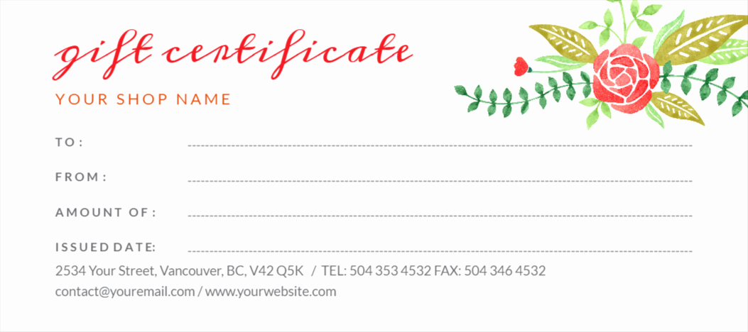 Fancy Gift Certificate Template Inspirational Free Gift Certificates Maker Design Your Gift