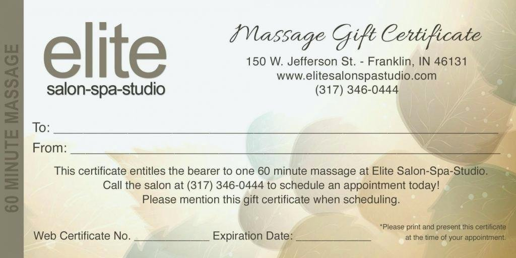 Fancy Gift Certificate Template Inspirational Printable Massage T Certificate Template