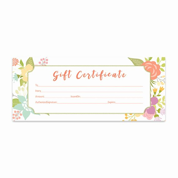 Fancy Gift Certificate Template Lovely Floral Gift Certificate Download Flowers Premade Gift