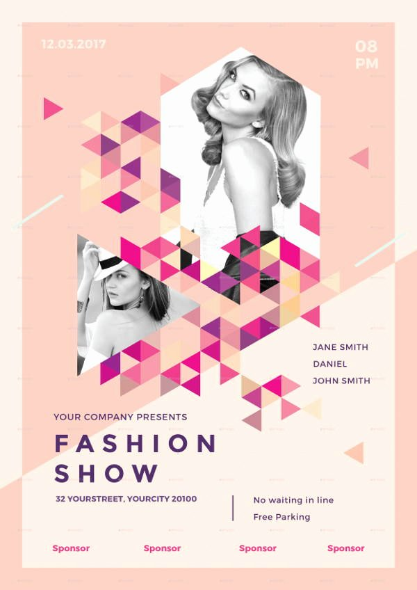 Fashion Show Flyer Template Awesome 16 Fashion Show Flyer Templates In Word Psd Ai Eps