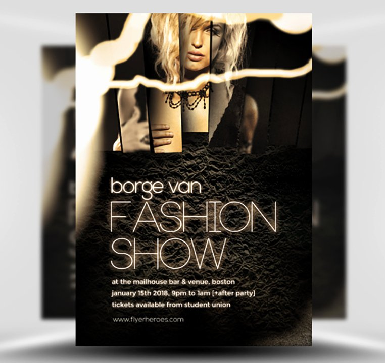 Fashion Show Flyer Template Awesome Fashion Show Flyer Template Flyerheroes