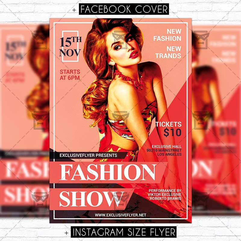 Fashion Show Flyer Template Awesome Fashion Show – Premium Psd Flyer Template