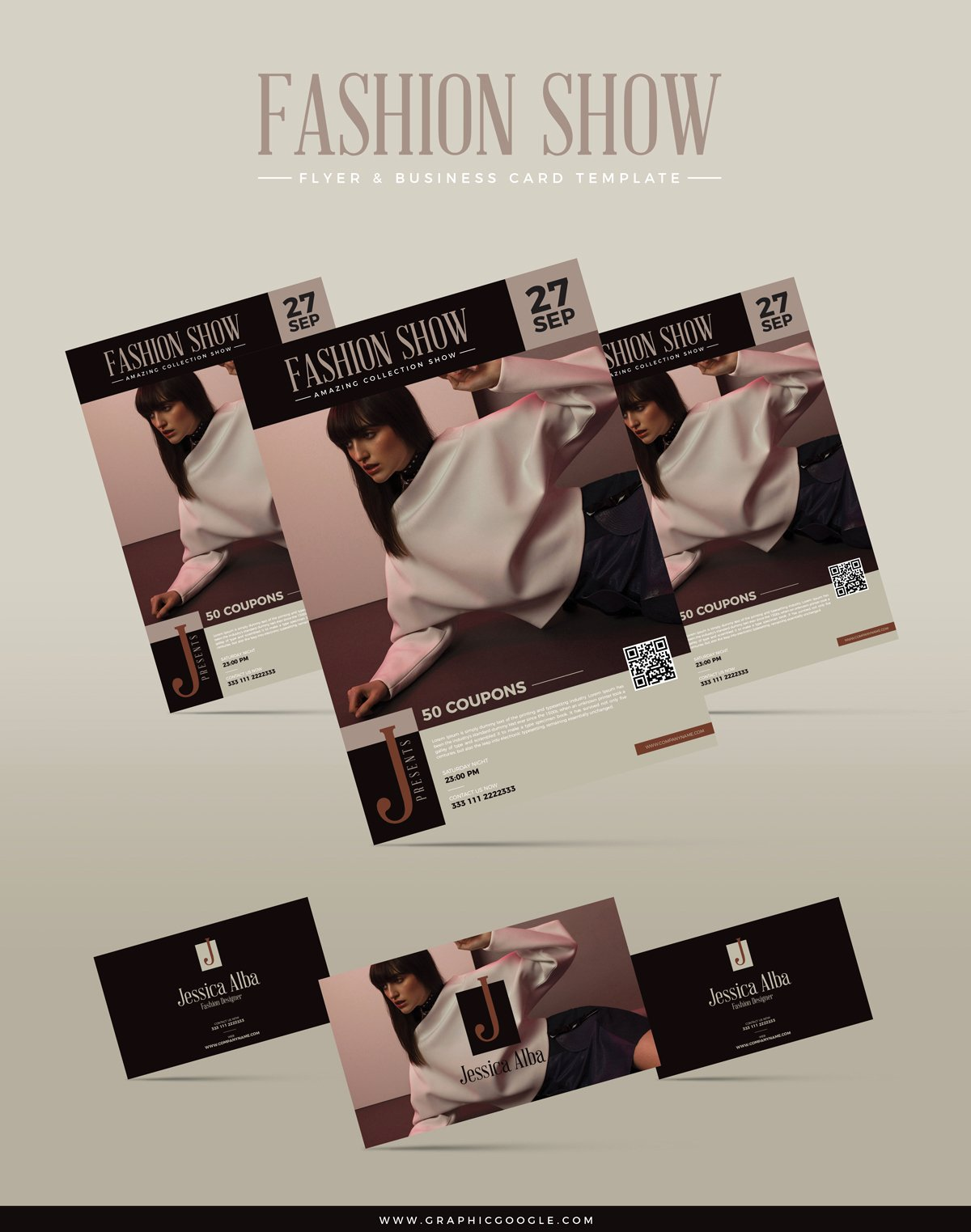 Fashion Show Flyer Template Awesome Free Fashion Show Flyer & Business Card Templategraphic