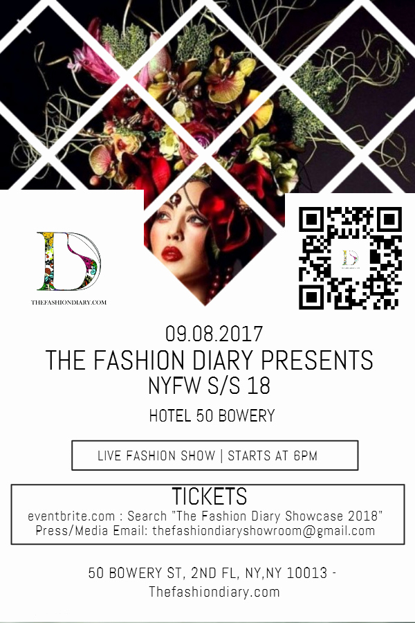 Fashion Show Flyer Template Awesome the Fashion Diary Showcase Nyfw S S 18