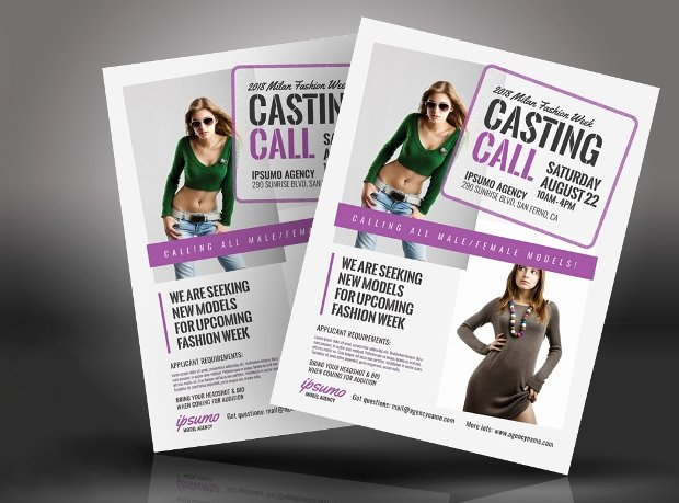 Fashion Show Flyer Template Beautiful 20 Talent Show Flyer Templates Printable Psd Ai