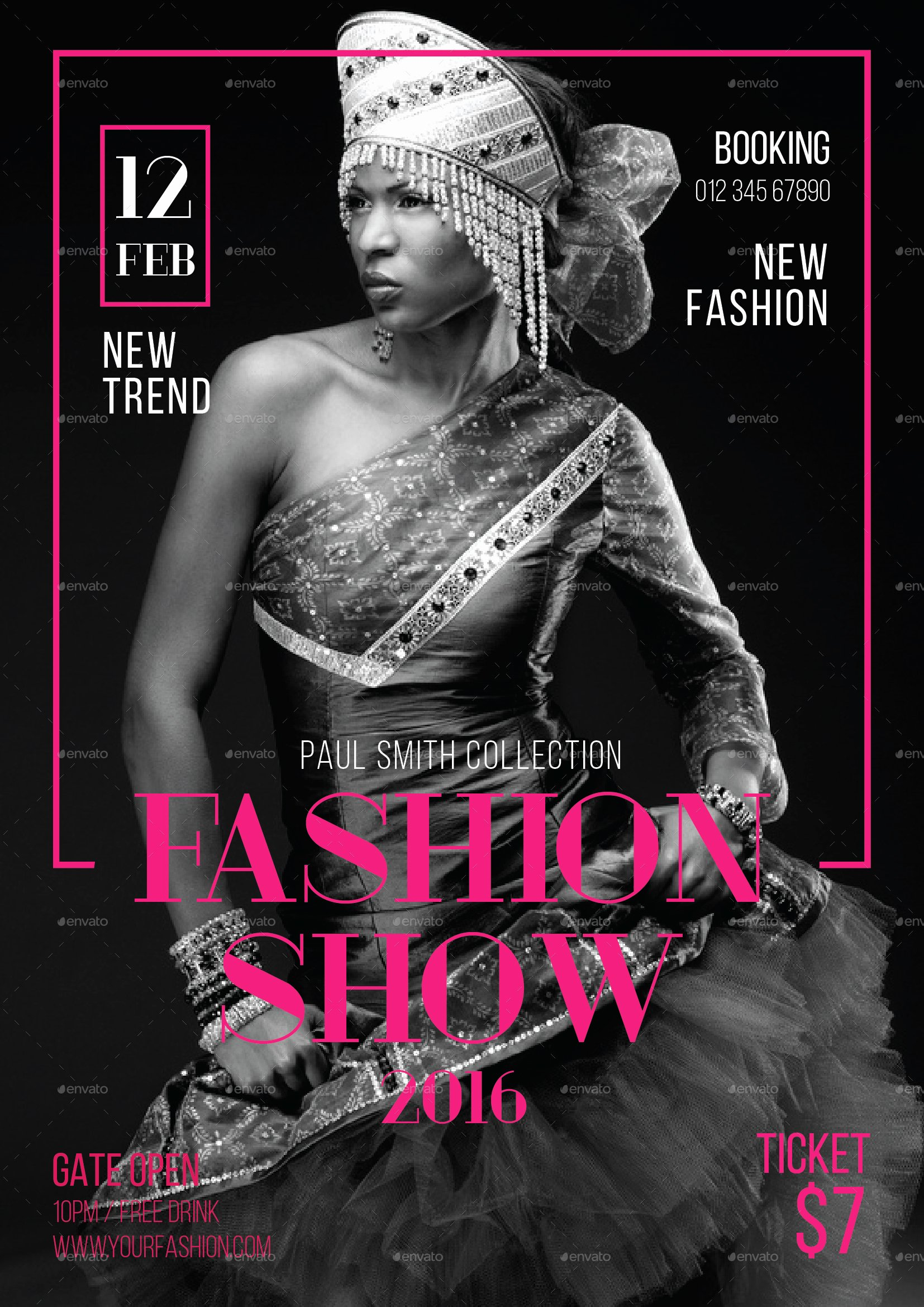 Fashion Show Flyer Template Beautiful Fashion Show Flyer by tokosatsu
