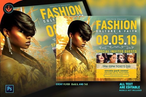Fashion Show Flyer Template Beautiful Free Fashion Show Flyer Template Designtube Creative