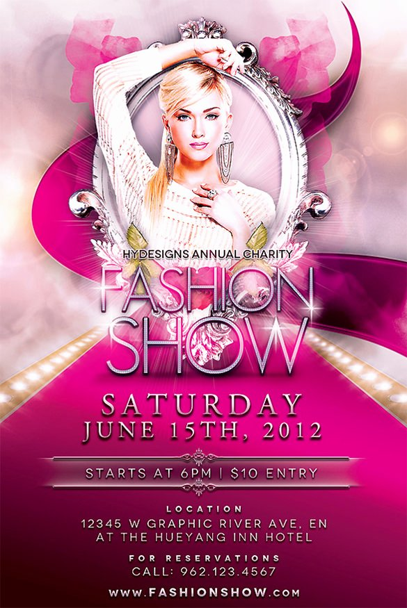 Fashion Show Flyer Template Best Of 24 Fashion Flyer Psd Templates & Designs