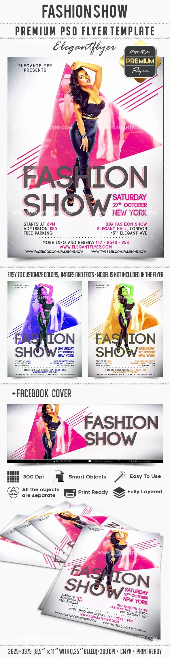 Fashion Show Flyer Template Best Of Fashion Show Invitation Flyer Template – by Elegantflyer