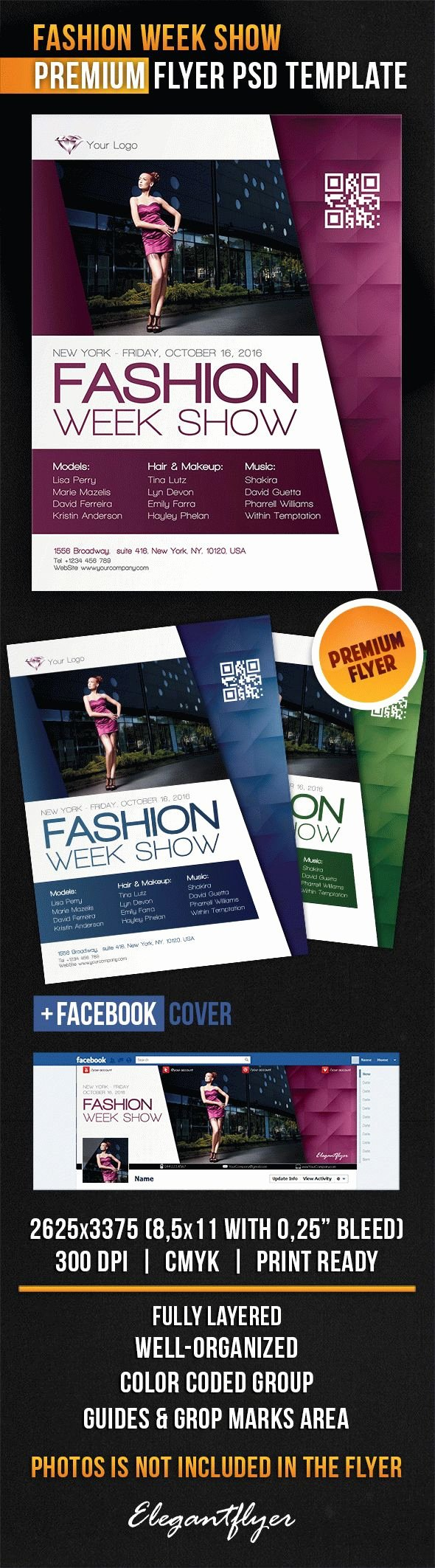 Fashion Show Flyer Template Best Of Fashion Week Show Flyer Psd Template Cover