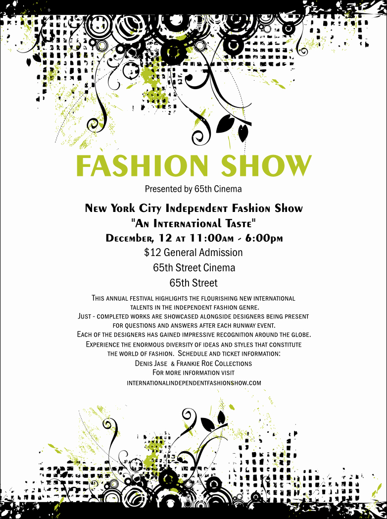 Fashion Show Flyer Template Elegant Fashion Show Flyer