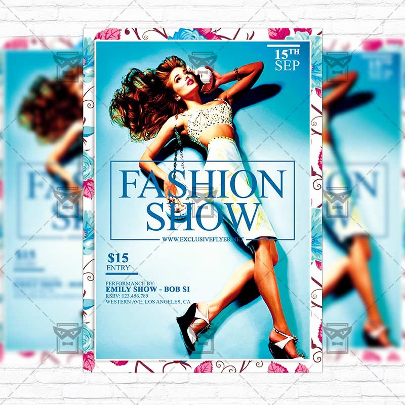 Fashion Show Flyer Template Elegant Fashion Show – Premium Flyer Template Instagram Size